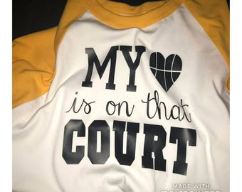 My heart is on the court