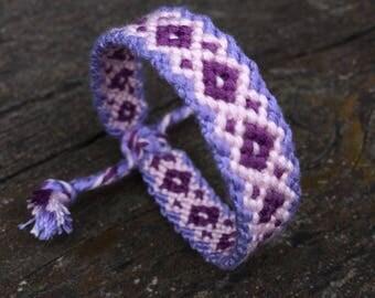 Friendship Bracelet,handmade,hand woven,pure cotton,hippie,boho,aztec