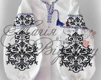 White embroidered blouse Vyshyvanka white  Ukrainian embroidery Ukrainian embroidery top Handmade blouse Boho style  Beaded shirt Sorochka