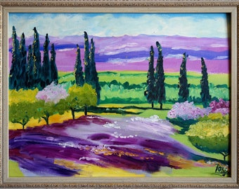 "Oil on Canvas Painting ""Provence"" - inspired by French Impressionism"