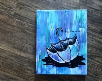 "Umbrella painting ""feel the rain"""