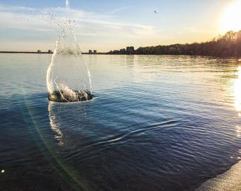 Splashes at Sunset