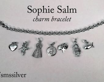 Charm bracelet: mix and match sterling silver