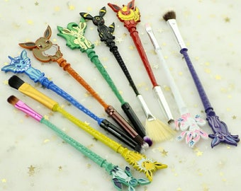 9pcs set make up brushes pokemon GO inpired jewelry Makeup brush Lovely animals/game Women jewelry Cosmetic brush gift for her