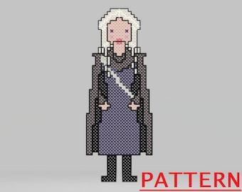 Game of Thrones Nutcracker Cross Stitch Pattern - Daenerys Targaryen / Game of Thrones Christmas Counted Cross Stitch / PATTERN ONLY
