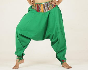 Harem pants green yoga pant trouser NEPALI pocket pyjamas