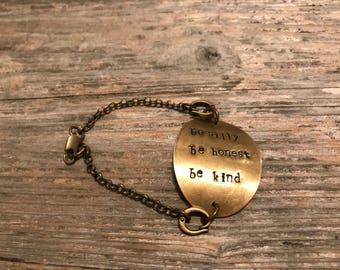 Be silly, be honest, be kind bracelet