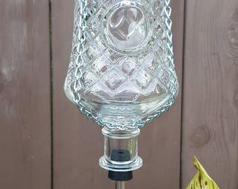 Antique Glass Hummingbird Feeder