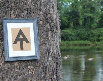 Appalachian Trail Symbol - AT - Digital Download Print