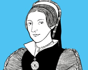 Catherine Howard - Six Wives A6 Greetings Card