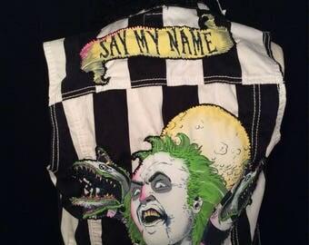 """Beetlejuice """"Say My Name"""" Custom Vest"""