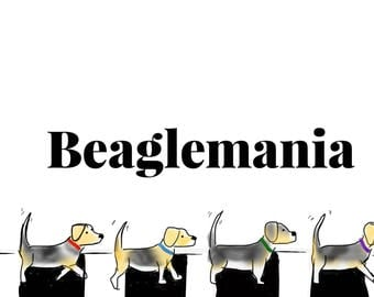 Beaglemania and Snoopy Print
