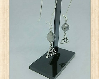 """Earrings sleepers """"Relics of the dead HP"""""""