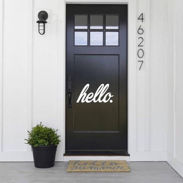 Hello Door Decal, Hello Decal, Hello Sticker,Home Decals, Door Decor,