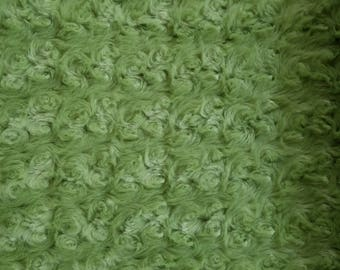 Minky Swirl Fabric in Green