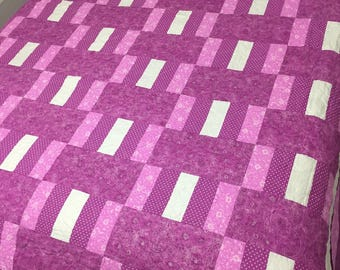Magenta Oh Baby!  silver shimmers king size quilt