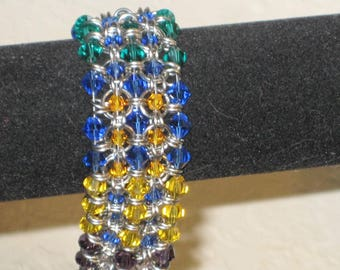 Two Tone Crystal Mail
