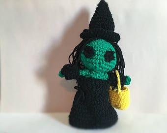 Crochet Elphaba Doll-Amigurumi Elphaba