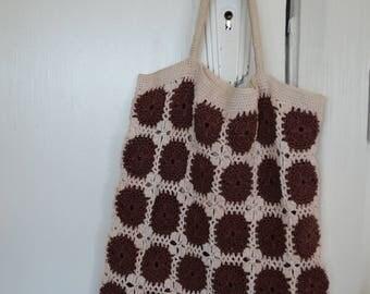 Vintage Crochet Market Bag