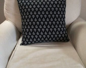 Black Teardrop Throw Pillow, 50 x 50