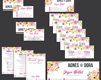 Agnes and Dora Kit, Agnes and Dora Marketing Set, Custom Agnes And Dora, Digital Agnes and Dora, Printable File AG15