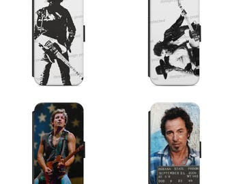 Bruce Springsteen The Boss Blk E Street Rock Music Wallet Flip phone Case Cover For All iPhone & Samsung models