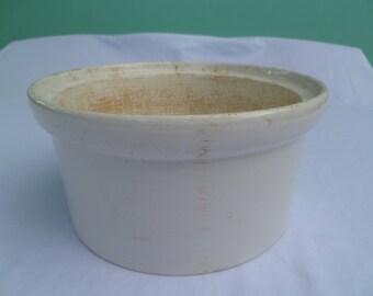 victorian white stoneware ceramic crock