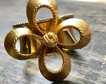 Napkin Ring with Gold Flower