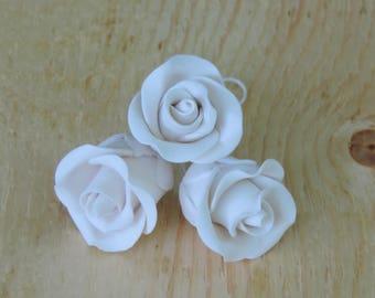 Cake Decoration - Medium Rose  White