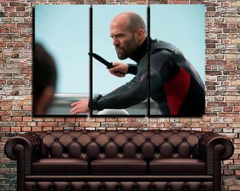 Jason Statham Knife Mechanic 2 Bald Men Jason Statham canvas Mechanic canvas print