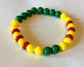 Vietnam Veteran Ribbon / Campaign inspired bead bracelet / Army Air Force Navy Marine Veteran Military