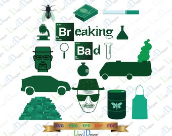 Breaking Bad svg Breaking Bad art Breaking bad poster breaking bad cutting svg eps png dxf file for Print Design shirt Silhouette Cricut