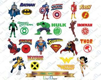 Superheroes SVG Superhero DXF Superhero logo SVG Superhero clipart superhero decor ornament party svg eps dxf png files for cameo cricut
