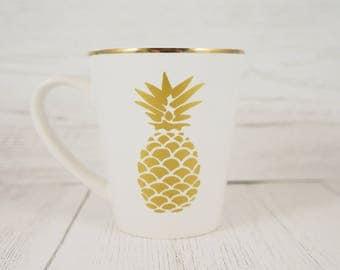 Gold Rim Coffee Mug