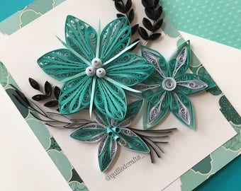 Handmade card/Quilling/Quilled card/Greeting cards/Card for any occasion/Floral card