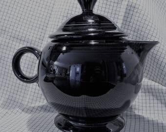 "Home Laughlin Fiestaware Post 86 Fiesta Black Tea Pot 7"" x 8 3/4"""