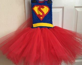 Super girl inspired tutu dress