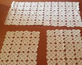 6 handmade crochet doilies