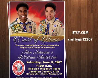 Boy Scout Eagle Scout Court of Honor Invitation Digital Printable