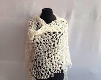 Shawl, angora wool