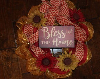 Bless This Home Wreath