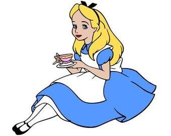 Alice in Wonderland Svg file, Svg Cutting file, Disney Svg file, Svg for Silhouette, Svg for Circut, Alice Cut files, Svg files, Svg Clipart