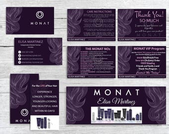 Monat Marketing kit, Custom Monat Business Card, Monat Hair Care, Monat Global, Monat starter Pack, Monat Flyer, Printable Card MN09