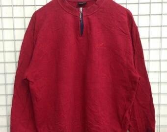 Vintage New Balance half zipper sweatshirts small logo nice design