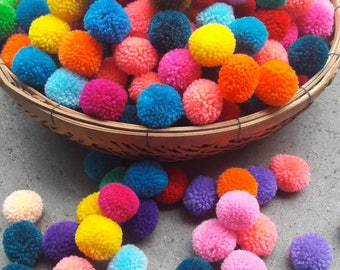 100 Piece POM POM many colors