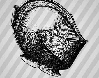 Armour helmet - Svg Dxf Eps Silhouette Rld RDWorks Pdf Png AI Files Digital Cut Vector File Svg File Cricut Laser Cut