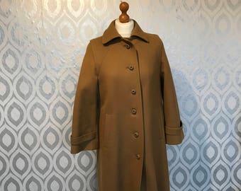 Vintage womens beige tan wool winter coat