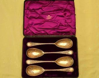 Antique 4 Silver Spoons 1814 by Marshall & Sons, Edinburgh, Scotland