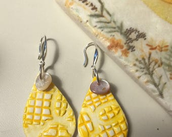 Summer Sunshine - Clay Diffuser Earrings for Essential Oils