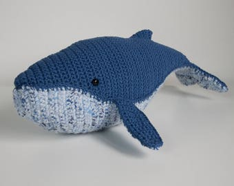 Crocheted humpback whale